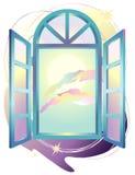 fantazi okno Obrazy Stock
