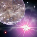 fantazi planety przestrzeni słońce Zdjęcia Royalty Free