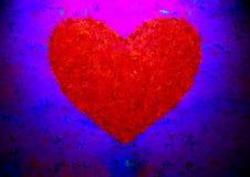 Fantazi romantyczny serce na niewyraźnym tle ilustracji