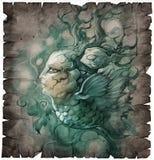 Fantazi ryba z twarzą ludzką Obrazy Royalty Free