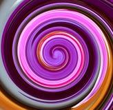 Fantazi spirala jaskrawy lily kolor obrazy royalty free