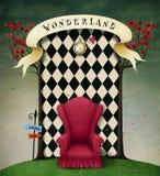 Fantazi tła kraina cudów royalty ilustracja