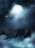 Fantazi tło ilustracja wektor