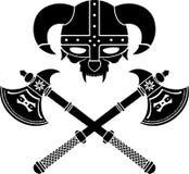 Fantazi Viking hełm Obrazy Royalty Free