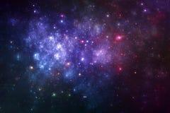 Fantazi wszechrzeczy galaxy z gwiazdami i mgławicą Zdjęcia Stock