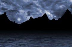 Fantazj czarne góry Obrazy Royalty Free