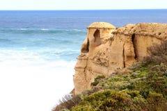 Fantazj rockowe formacje wzdłuż Wielkiej ocean drogi, Australia Obrazy Royalty Free