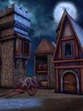 Fantazja świron przy nocą royalty ilustracja