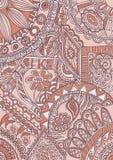 Fantazja abstrakcjonistycznego motywu ornamentacyjny wzór Fotografia Royalty Free