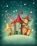 Fantazja domy Obrazy Royalty Free