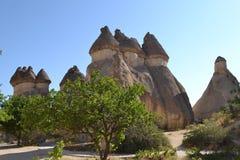 Fantazja domy w Cappadocia regionie Fotografia Royalty Free