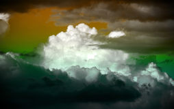 Fantazja góruje chmury Fotografia Stock
