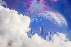 Fantazja irrealny krajobraz obrazy royalty free