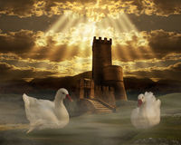 Fantazja kasztel obrazy royalty free