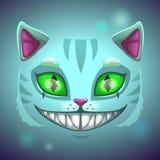 Fantazja kota straszna uśmiechnięta twarz Zdjęcie Royalty Free