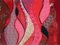 fantazja patchworku czerwony Zdjęcia Stock