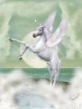 fantazja Pegasus royalty ilustracja