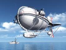 Fantazja sterowiec Fotografia Royalty Free