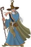Fantazja Stylowy czarownik royalty ilustracja