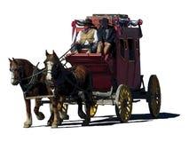 Fantazji ilustracja stagecoach podróżuje lewica ilustracji