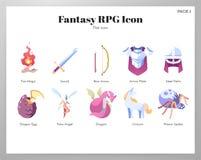 Fantazji RPG ikon P?aska paczka royalty ilustracja