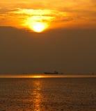 Fante di marina e tramonto fotografie stock libere da diritti