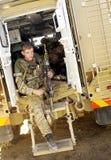 Fanteria dell'esercito sull'esercizio fotografia stock