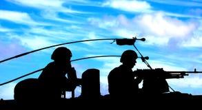 Fanti di marina olandesi sul serbatoio fotografia stock libera da diritti