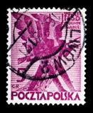 Fanti stilizzati, 100th anniversario di novembre polacco U Fotografia Stock Libera da Diritti