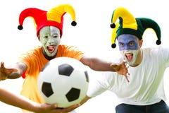 Fanáticos del fútbol Fotografía de archivo