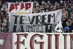 Fanáticos del fútbol rápidos de Bucarest Fotos de archivo