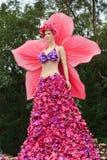 Fantoche com orquídea roxa Fotos de Stock Royalty Free