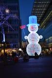 Fantoche da luz para os feriados do Natal foto de stock
