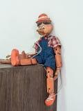 Fantoche de Pinocchio Imagem de Stock