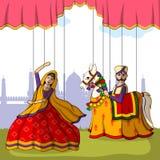Fantoche de Rajasthani no estilo indiano da arte Imagem de Stock Royalty Free