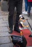 Fantoche napolitana tradicional Pulcinella imagens de stock