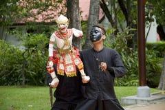 Fantoche tailandês Hanuman Captures Benchakaya Fotografia de Stock Royalty Free