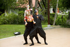 Fantoche tailandês Hanuman Captures Benchakaya Imagem de Stock Royalty Free