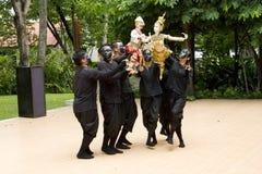 Fantoche tailandês Hanuman Captures Benchakaya Foto de Stock