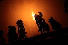 Fantoches da sombra em Bali Foto de Stock