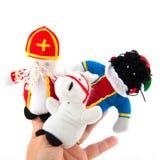Fantoches do dedo de Sinterklaas Imagens de Stock