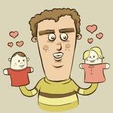 Fantoches no amor ilustração do vetor