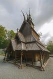 Fantoft梯级教会,卑尔根,挪威 免版税库存照片