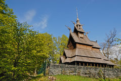 Fantoft Stave Church Royalty Free Stock Image