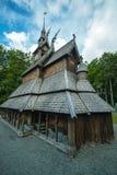 Fantoft Stave Church, Bergen, Norge Arkivfoto