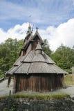 Fantoft Stave Church, Bergen, Norvegia Fotografia Stock Libera da Diritti