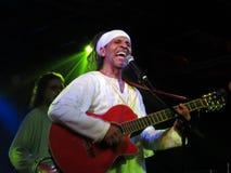 Fantuzzi chante et joue la guitare aux carrefours Image libre de droits