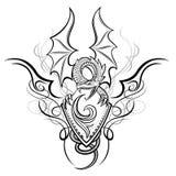 fanyasy gradbeteckning för drake stock illustrationer
