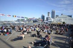 Fanzone in der Auckland-Stadt Lizenzfreies Stockbild