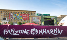 FANZONE in Kharkov, Ukraine. EURO-2012 Royalty Free Stock Photos